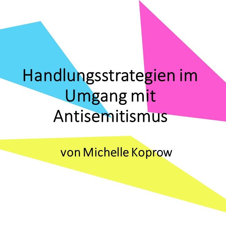 Handlungsstrategien im Umgang mit Antisemitismus